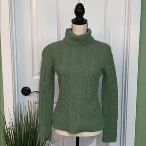 Charter Club / Turtle Neck / S / Green /Cable Knit